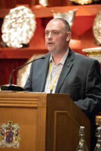 Chris Presenting at the Jewellery Materials Congress